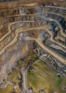 open pit silver mine